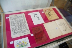 One of the exhibition cases on show at the Hawick Heritage Hub from 16 August until the end of September